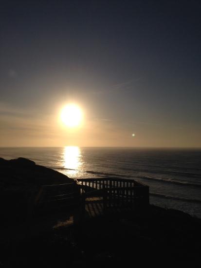 Sunrise over bird rock